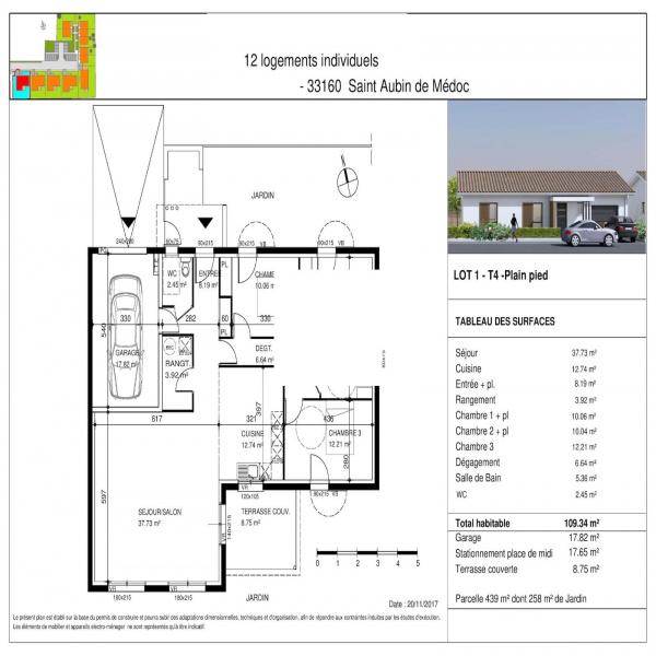Programme neuf Maison Saint-Aubin-de-Médoc 33160